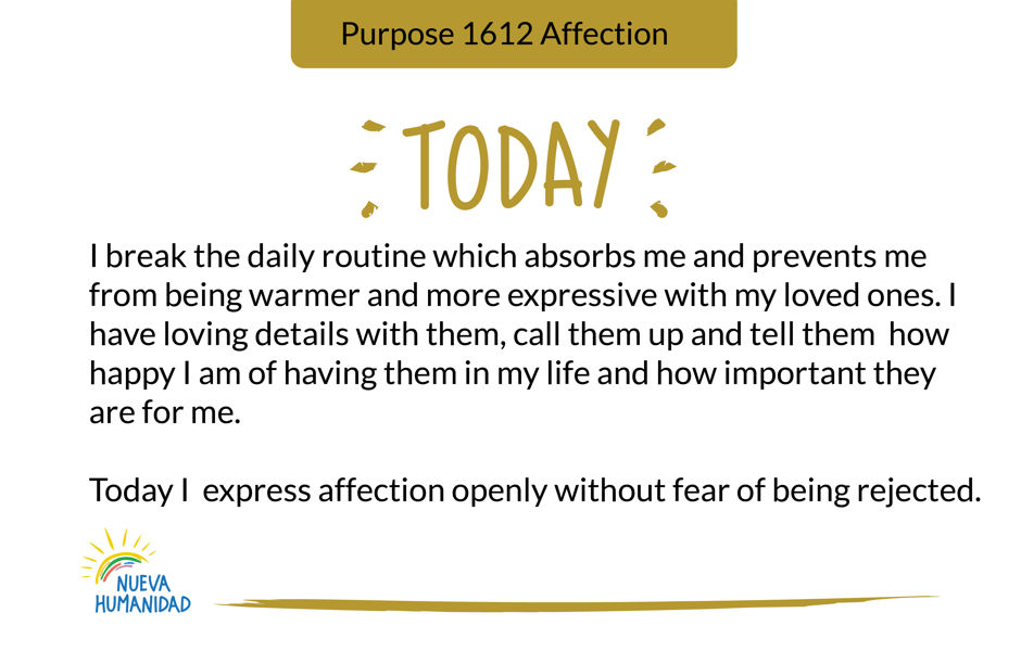 Purpose 1612 Affection