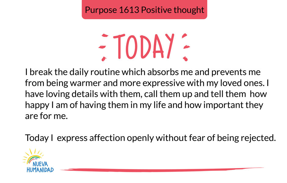 Purpose 1613 Positive thought