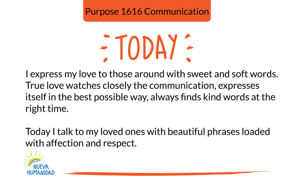 Purpose 1616 Communication