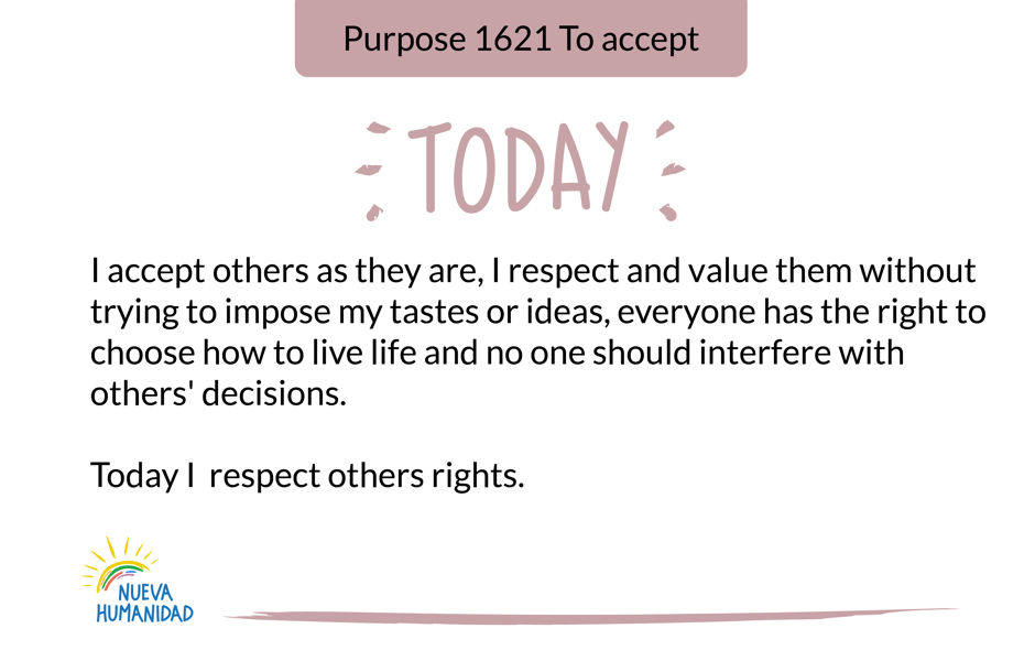 Purpose 1621 To accept