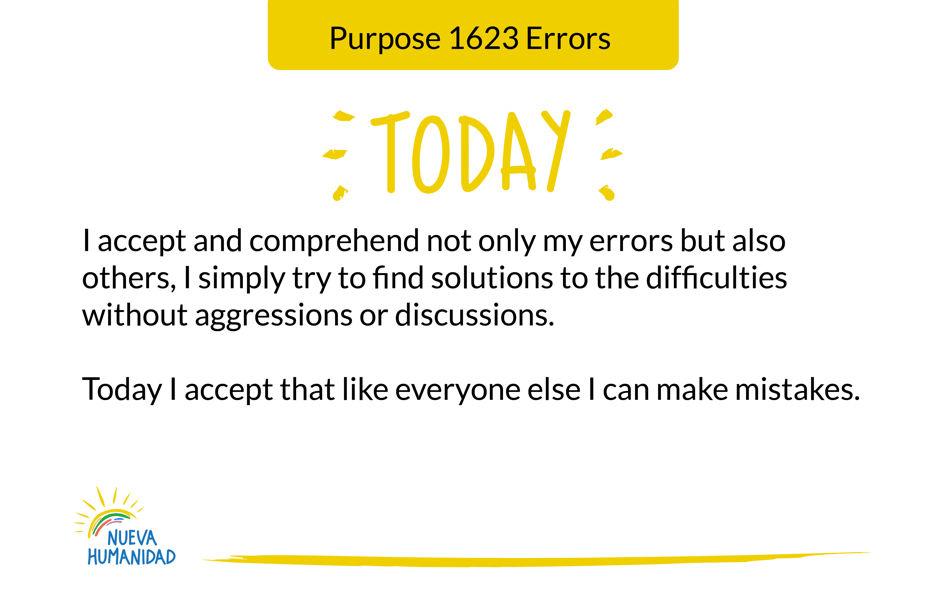 Purpose 1623 Errors