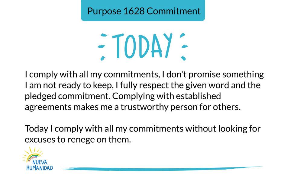 Purpose 1628 Commitment