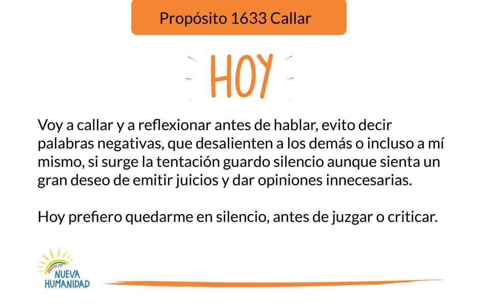 Propósito 1633 Callar