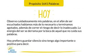 Propósito 1641 Palabras