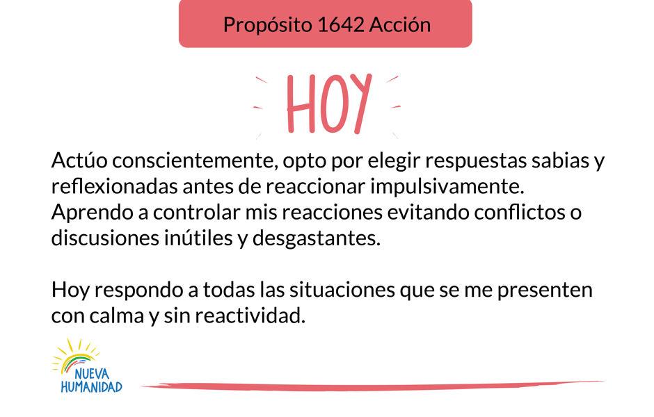 Propósito 1642 Acción