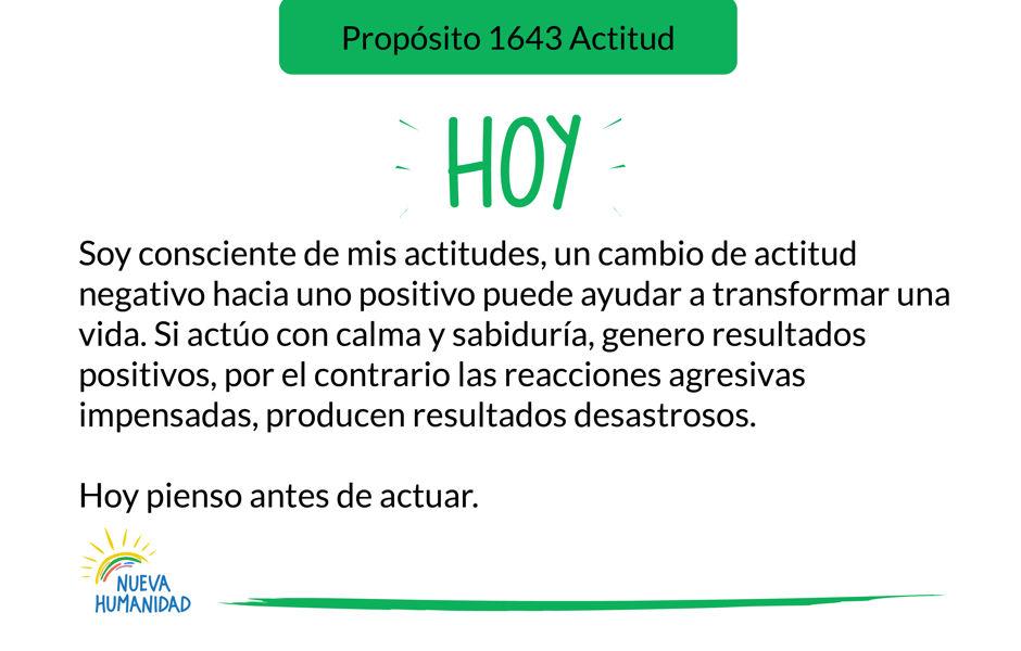 Propósito 1643 Actitud
