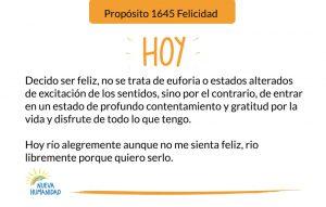Propósito 1645 Felicidad