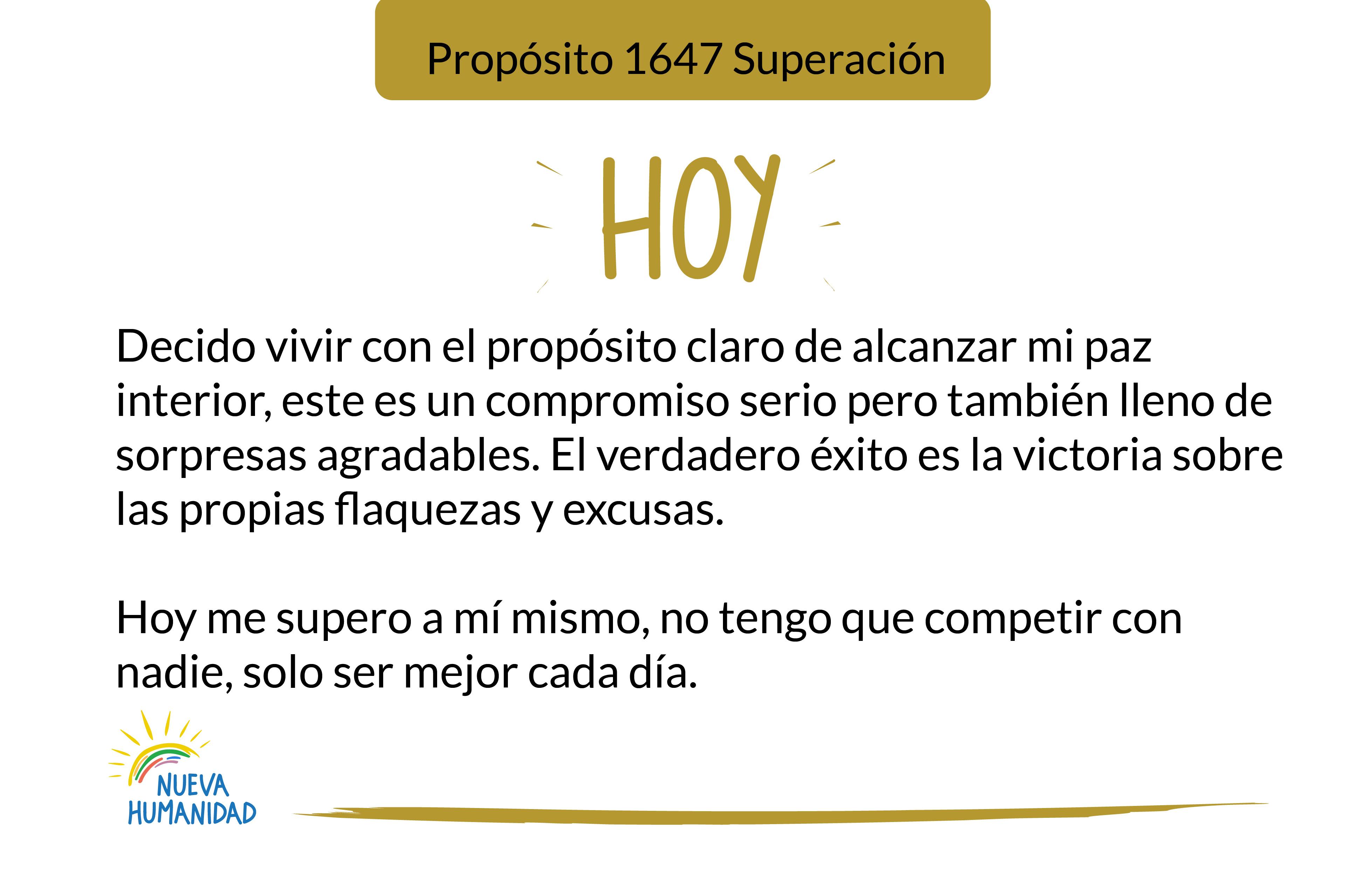Propósito 1647 Superación
