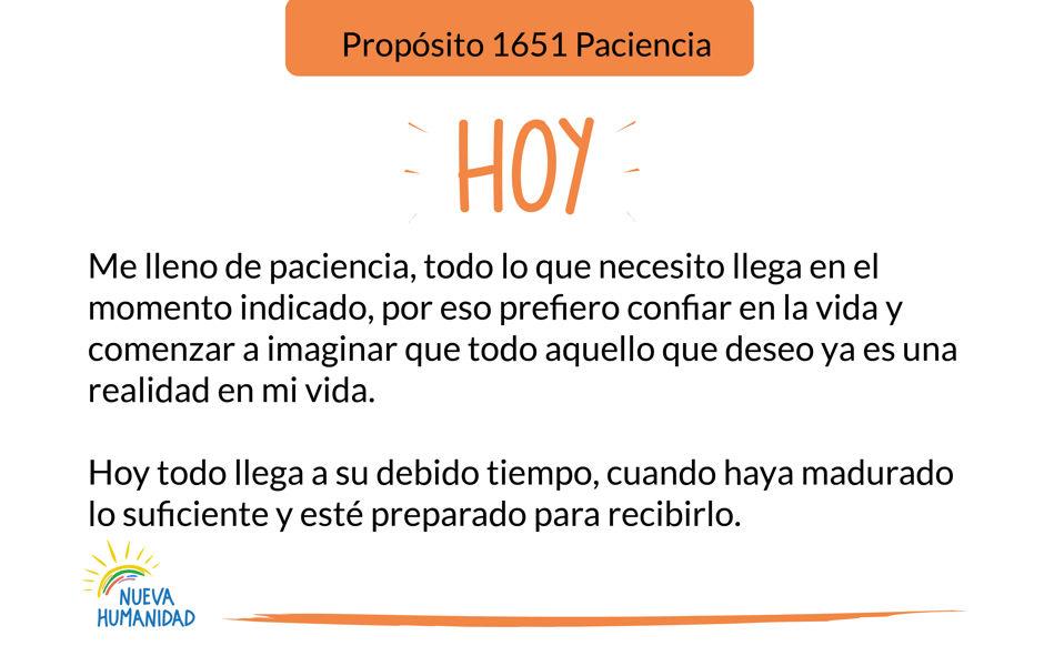 Propósito 1651 Paciencia