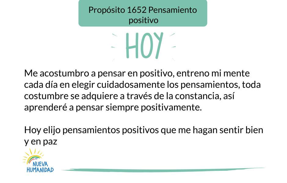 Propósito 1652 Pensamiento positivo