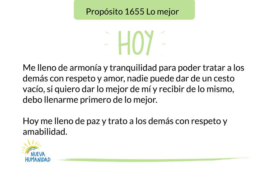 Propósito 1655 Lo mejor