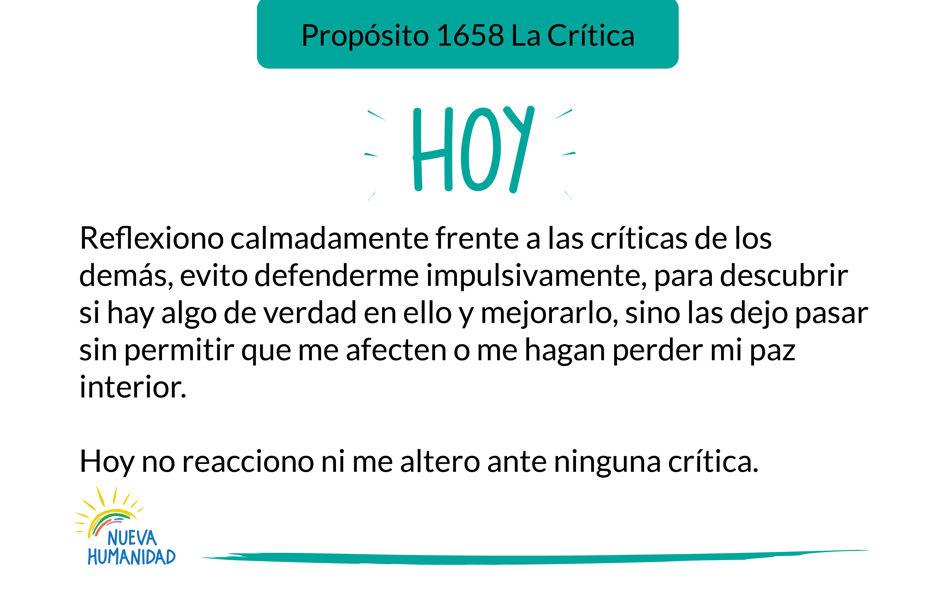Propósito 1658 La Crítica