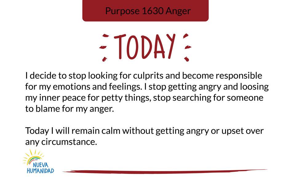 Purpose 1630 Anger