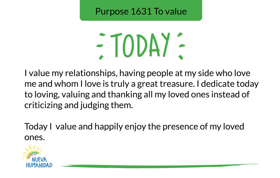 Purpose 1631 To value