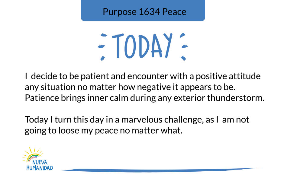 Purpose 1634 Peace