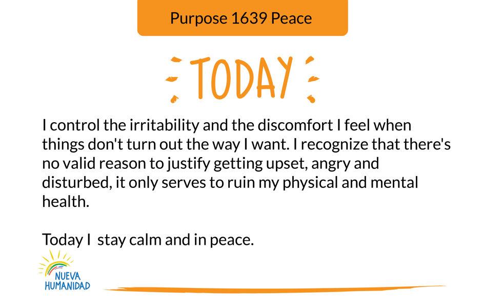 Purpose 1639 Peace