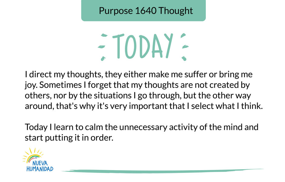 Purpose 1640 Thought