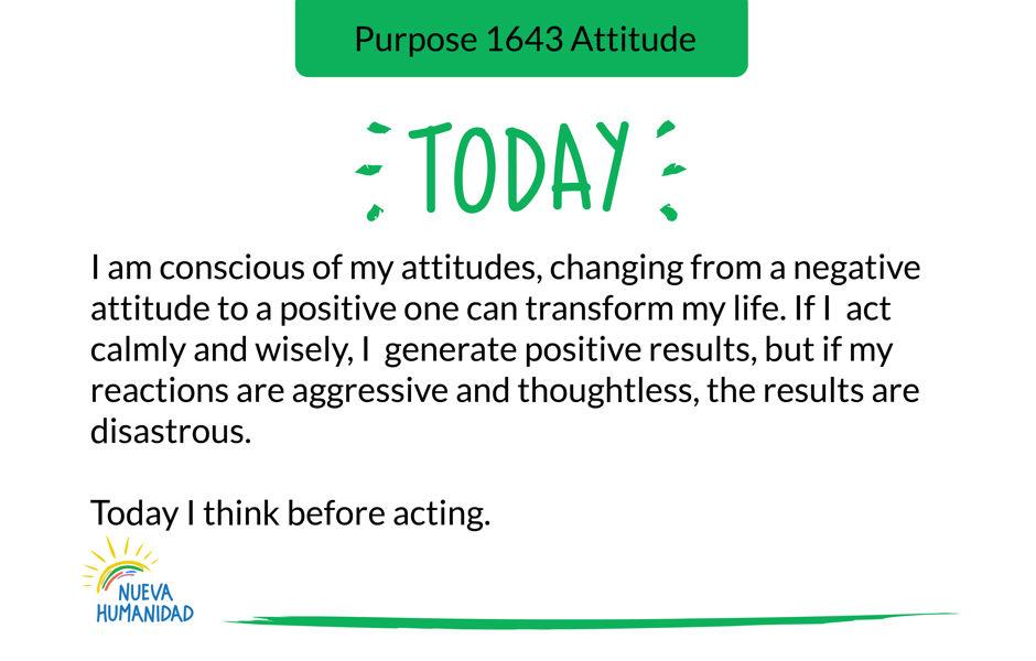 Purpose 1643 Attitude
