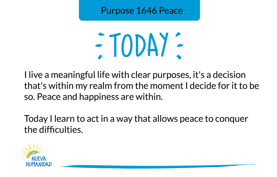 Purpose 1646 Peace