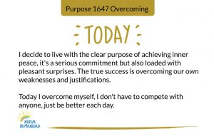Purpose 1647 Overcoming