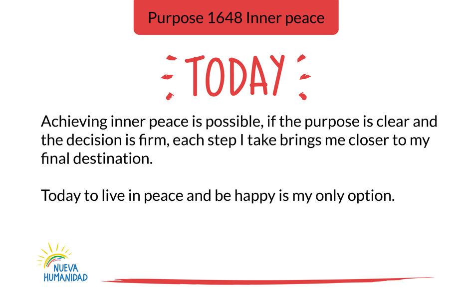 Purpose 1648 Inner peace