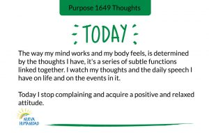 Purpose 1649 Thoughts