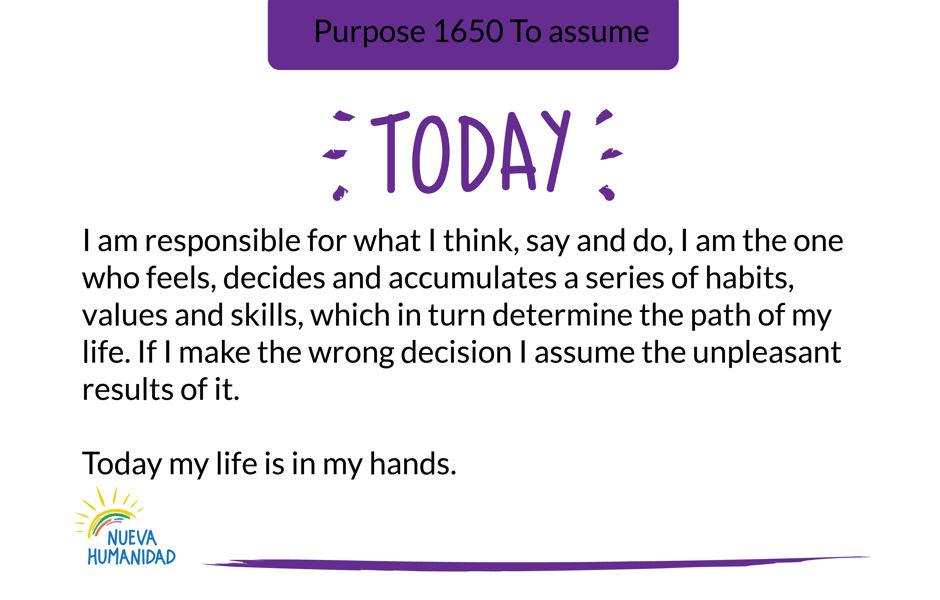 Purpose 1650 To assume