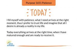 Purpose 1651 Patience