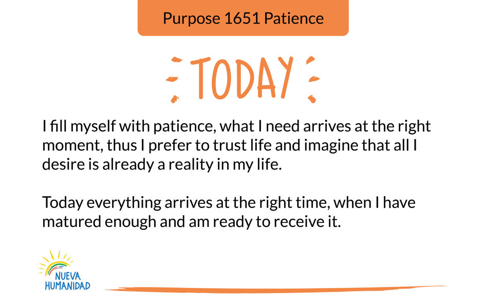 Purpose 1651 Patience