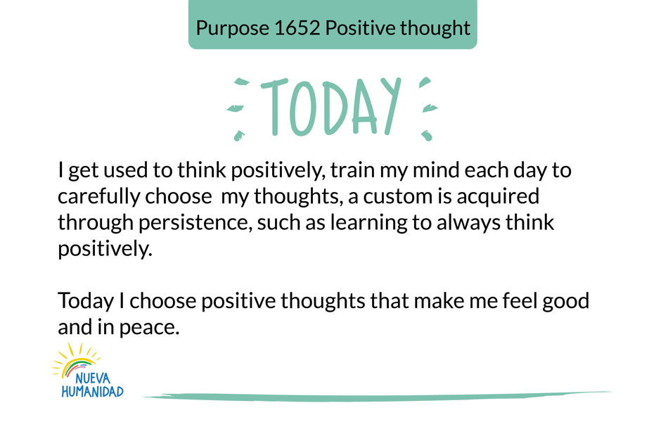 Purpose 1652 Positive thought