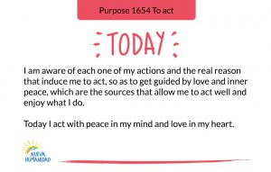 Purpose 1654 To act