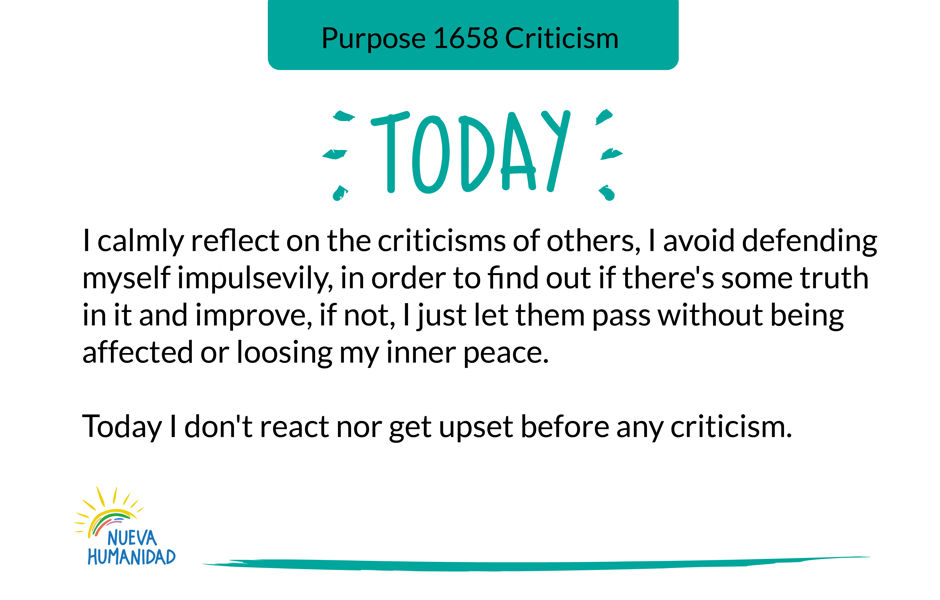 Purpose 1658 Criticism