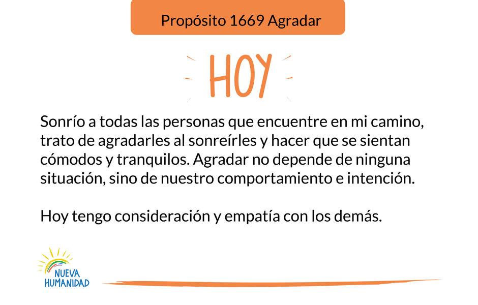 Propósito 1669 Agradar