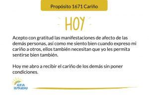 Propósito 1671 Cariño
