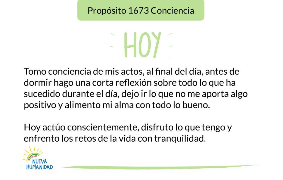 Propósito 1673 Conciencia
