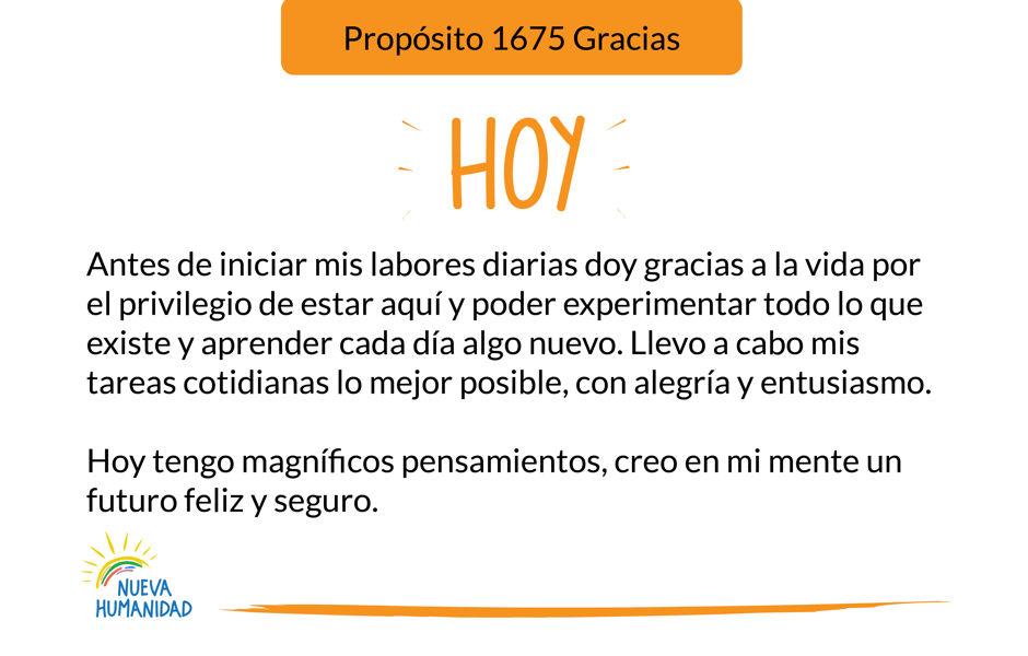 Propósito 1675 Gracias