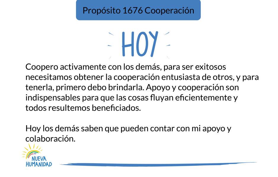 Propósito 1676 Cooperación