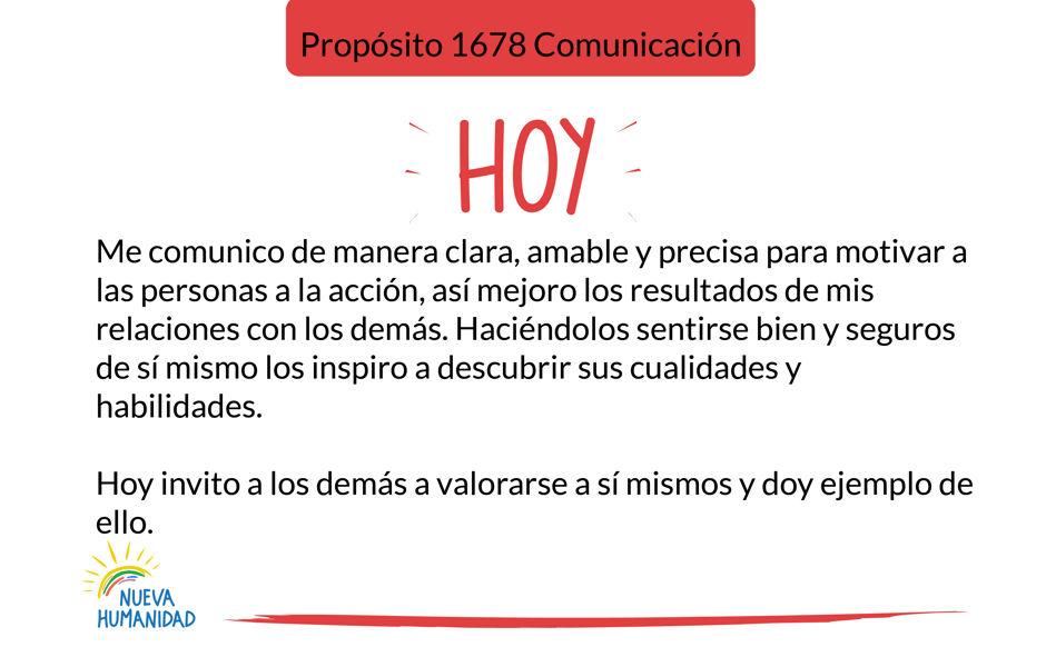 Propósito 1678 Comunicación