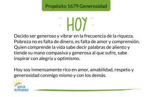 Propósito 1679 Generosidad
