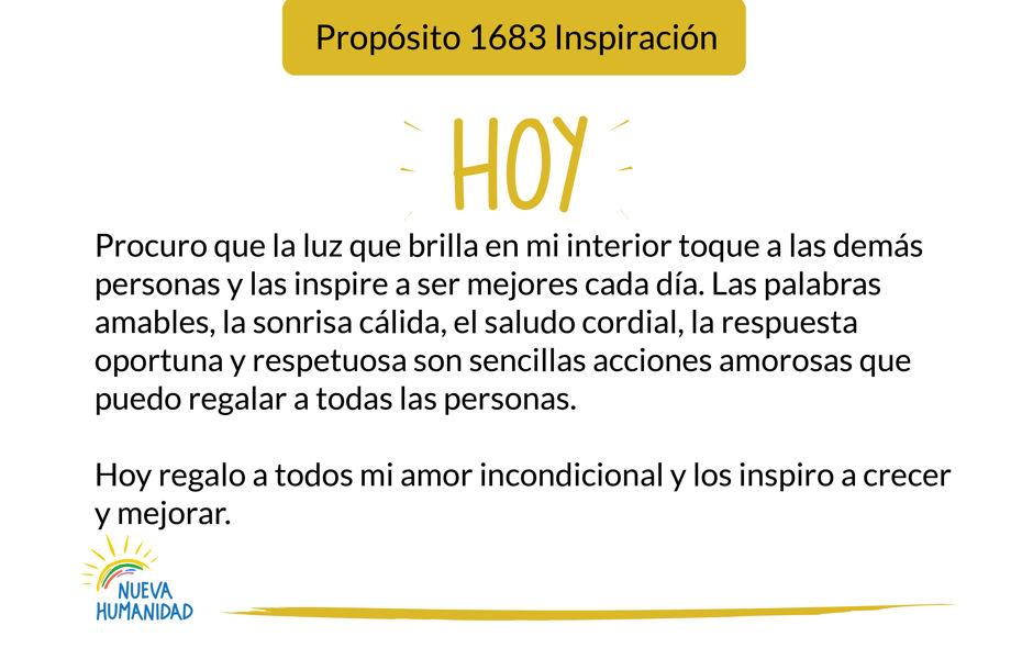 Propósito 1683 Inspiración