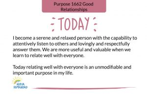 Purpose 1662 Good Relationships