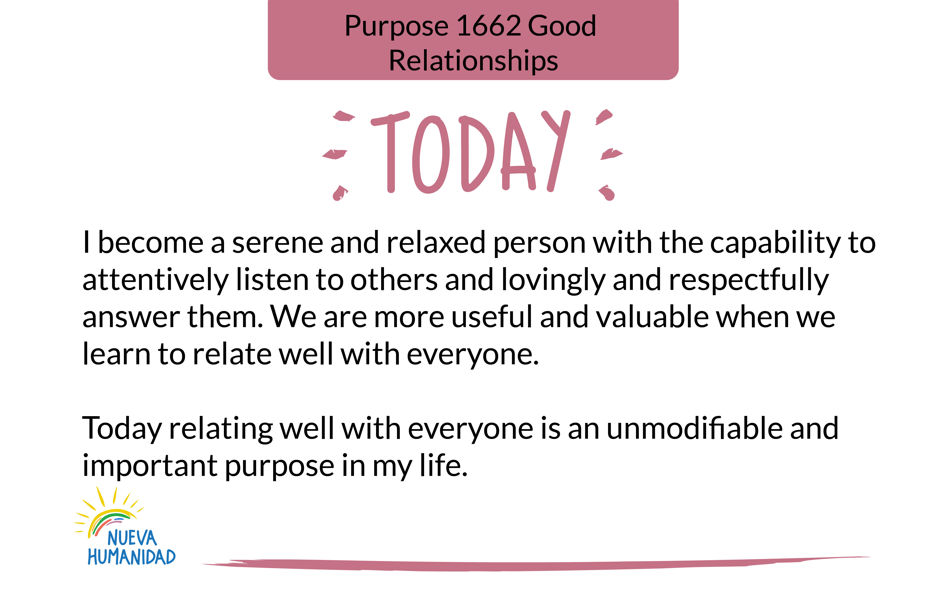 Purpose 1662 Good Relationships