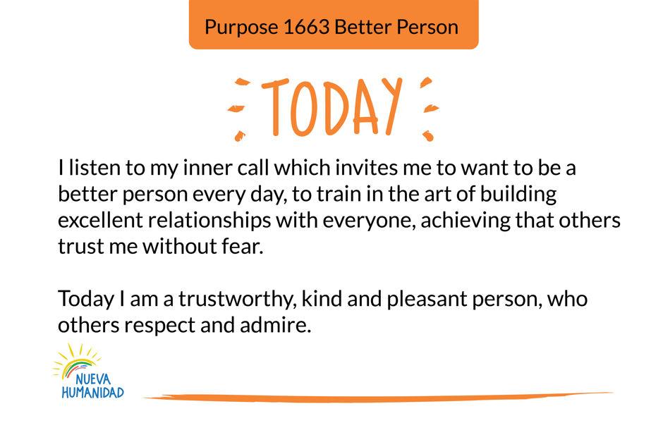 Purpose 1663 Better Person