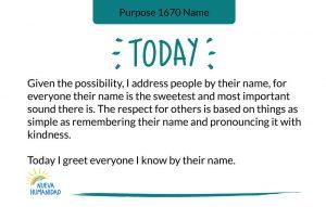 Purpose 1670 Name