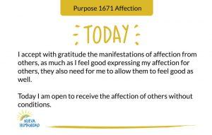 Purpose 1671 Affection