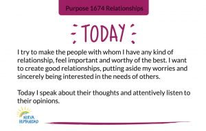 Purpose 1674 Relationships