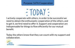 Purpose 1676 Cooperation