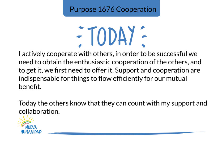 Purpose 1676 Cooperation
