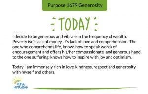 Purpose 1679 Generosity