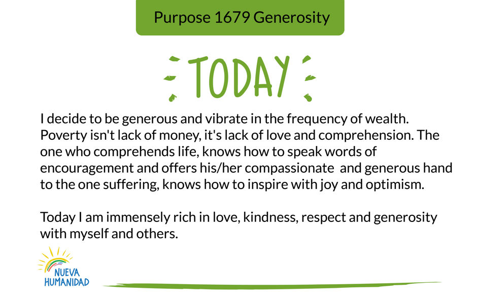 Purpose 1679 Generosity